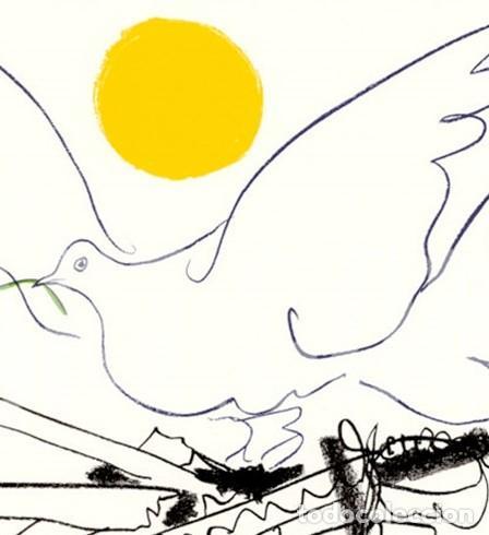 Arte: PABLO PICASSO MUNDO SIN ARMAS LITOGRAFÍA FIRMADA FECHADA PLANCHA 1962 EDITIONS COMBAT POUR LA PAIX - Foto 2 - 31260859