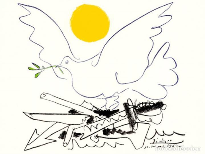 Arte: PABLO PICASSO MUNDO SIN ARMAS LITOGRAFÍA FIRMADA FECHADA PLANCHA 1962 EDITIONS COMBAT POUR LA PAIX - Foto 3 - 31260859