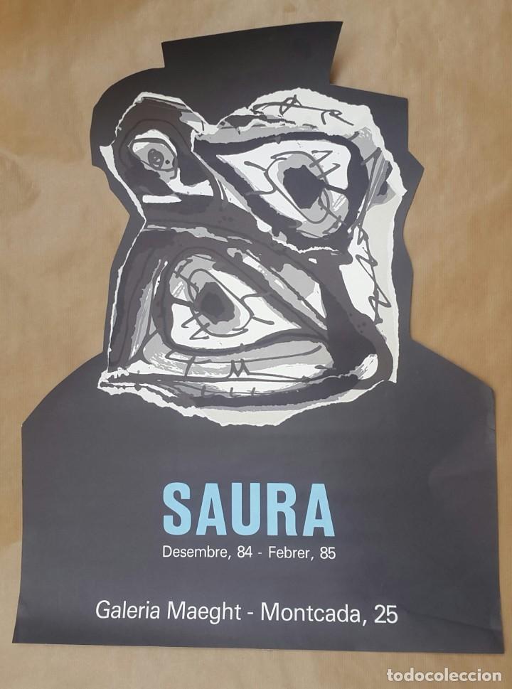 Arte: SAURA - 1984 - GALERIA MAEGHT - CARTEL LITOGRÁFICO - Foto 2 - 135018838