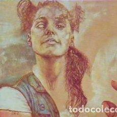 Arte: REINER SCHWARZ MUJER CON ESCARABAJO LITOGRAFÍA ORIGINAL FIRMADA FECHADA 89 Y NUMERADA A LÁPIZ 15/50. Lote 29593925
