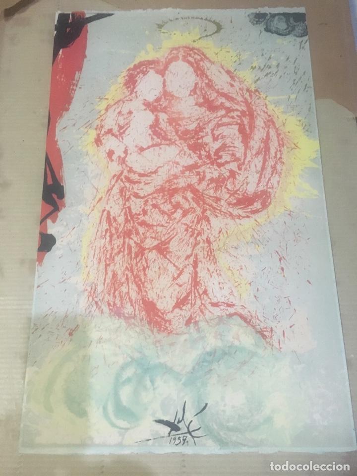 Arte: Salvador Dali - antigua litografía original 1957 firmada en plancha Madonna , comprada en la sala - Foto 2 - 135920014