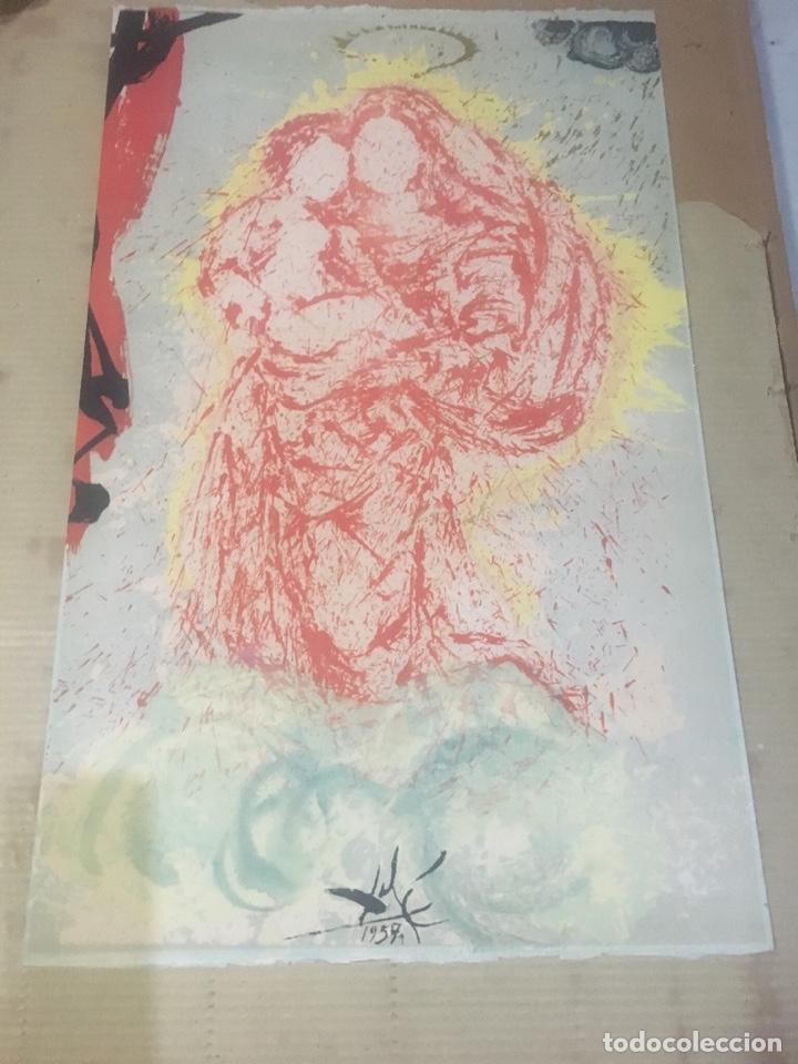 Arte: Salvador Dali - antigua litografía original 1957 firmada en plancha Madonna , comprada en la sala - Foto 5 - 135920014