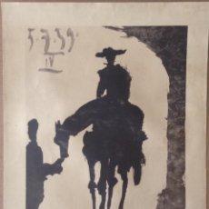 Arte: PABLO PICASSO TOROS Y TOREROS S.P.A.D.E.M. 1966 ORIGINAL LITOGRAFIA IV. Lote 136105242