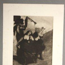 Arte: LITOGRAFIA SOBRE PAPEL A UNA SOLA TINTA. LES RIBAUDES. CIRCA 1950. Lote 136455020