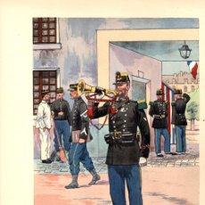 Arte: CROMOLITOGRAFIA CORNETA MILITAR FRANCES. PIERRE ALBERT LEROUX. CIRCA 1900. Lote 136470765