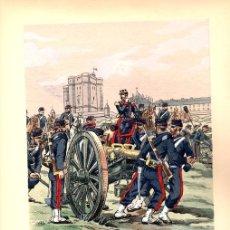 Arte: CROMOLITOGRAFIA CAMPAMENTO MILITAR FRANCES. PIERRE ALBERT LEROUX. CIRCA 1900. Lote 136471592