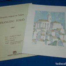 Arte: (MF) LITOGRAFIA ORIGINAL DE FRANCESC TODO , EJEMPLAR 293/295 EL POBLE DE CADAQUES . Lote 137331870
