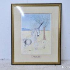 Arte: LITOGRAFIA CON MARCO DE DALI FIRMADA EN LA BASE. Lote 137468774