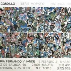 Arte: LUIS GORDILLO. Lote 137714294