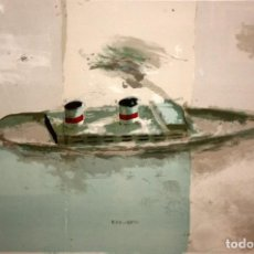 Arte: REGINA GIMÉNEZ (BARCELONA, 1966) LITOGRAFIA ORIGINAL P/A I/X TITULADA EMIGRANTS. Lote 137717418