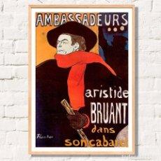 Arte: CARTEL TOLOUSE LAUTREC - AMBASSADEURS 48X33CM. NUEVO. Lote 137724166