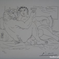 Arte: PICASSO - MINOTAUR AND A YOUNG WOMAN - SUITE VOLLARD - 1973 LITHOGRAPH - MINOTAURO Y MUJER JOVEN -. Lote 137844590