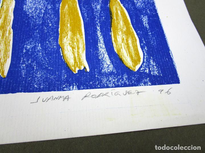 Arte: GRAN OBRA 65X45 JUANMA RODRIGUEZ 1996 AMARILLO Y AZUL FIRMADA - Foto 2 - 138304618