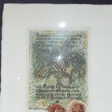 Arte: LITOGRAFIA DE TRAVER CALZADA ENMARCADA (JAIME I Y LA CONQUISTA DE BURRIANA). ENTRADA A VALENCIA 1238. Lote 139258922