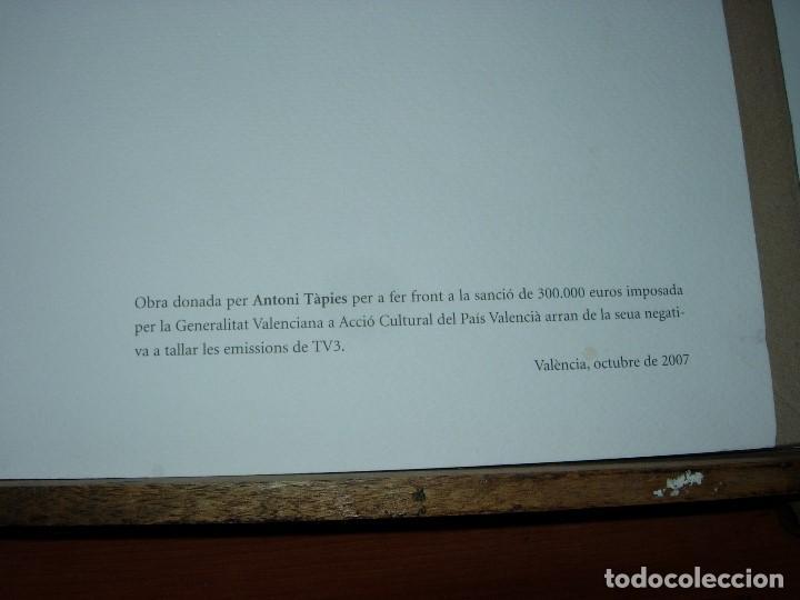 Arte: ANTONI TAPIES / TAPIES / ( VER FOTOS Y DESCRIPCION ) NOVIEMBRE 2007 - Foto 3 - 139697358