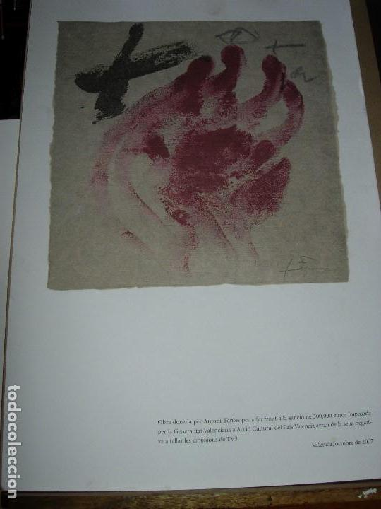 ANTONI TAPIES / TAPIES / ( VER FOTOS Y DESCRIPCION ) NOVIEMBRE 2007 (Arte - Litografías)