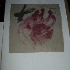 Arte: ANTONI TAPIES / TAPIES / ( VER FOTOS Y DESCRIPCION ) NOVIEMBRE 2007. Lote 139697358