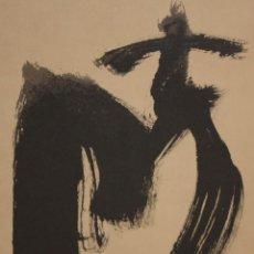 Arte: ANTONI TAPIES. LITOGRAFIA FIRMADA A PLANCHA AR 516/1000. TITULADA M, OJOS Y CRUZ. Lote 140692226