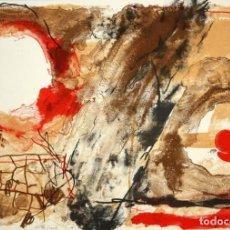 Arte: JOSEP GUINOVART. LITOGRAFIA FIRMADA A PLANCHA D 596/1000. TITULADA HORIZONTES. Lote 140694702