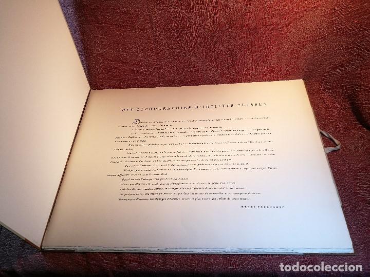 Arte: dix lithographies d´artistes suisses de perrochon henri 1955 SCHOELLHORN-DOMENJOZ-CLEMENT-BOSS REF-D - Foto 4 - 141173182