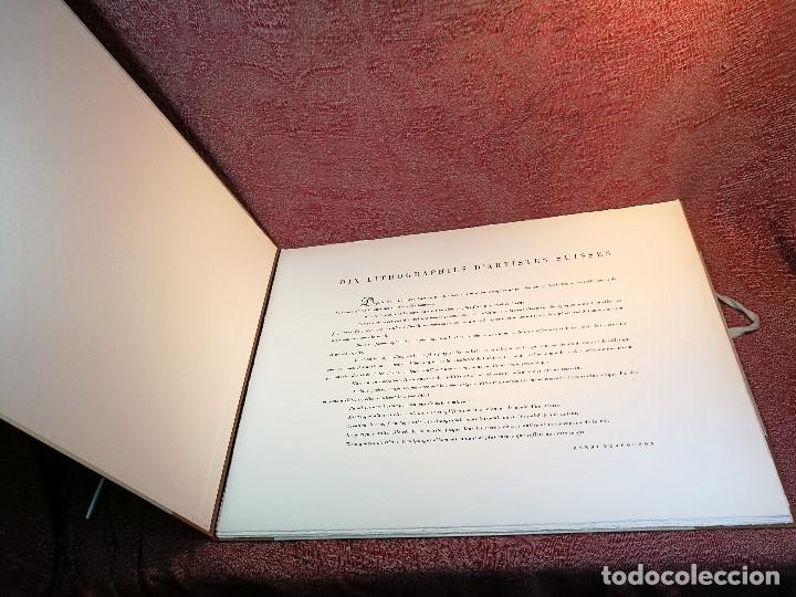 Arte: dix lithographies d´artistes suisses de perrochon henri 1955 SCHOELLHORN-DOMENJOZ-CLEMENT-BOSS REF-D - Foto 5 - 141173182