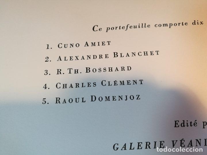 Arte: dix lithographies d´artistes suisses de perrochon henri 1955 SCHOELLHORN-DOMENJOZ-CLEMENT-BOSS REF-D - Foto 7 - 141173182