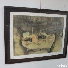 Arte: JORGE CASTILLO (PONTEVEDRA 1933) - LITOGRAFÍA - 128 X 98 - FIRMADA Y NUMERADA A LÁPIZ - Nº 48/60. Lote 142371726