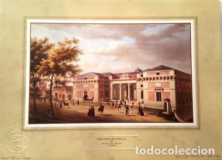 LITOGRAFIA FERNANDO BRAMBILLA - 1842 - MUSEO DEL PRADO MADRID-PATRIMONIO NACIONAL -ESPAÑA- (Arte - Litografías)