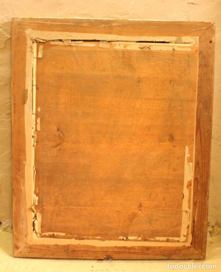 Arte: Bellísima litografía iluminada y enriquecida, en marco de madera dorado. París, s XIX. - Foto 10 - 142665294