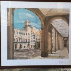 Arte: PRUEBA DE AUTOR DEL ARTISTA RUIZ MORANTE. AYUNTAMIENTO DE ALICANTE.64X55 TOTALES. Lote 142665922