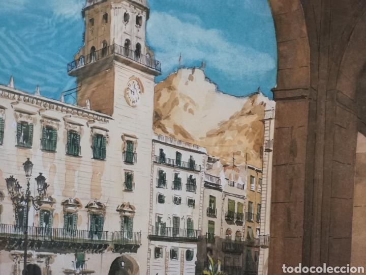 Arte: Prueba de autor del artista Ruiz morante. Ayuntamiento de Alicante.64x55 totales - Foto 2 - 142665922