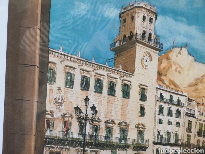 Arte: Prueba de autor del artista Ruiz morante. Ayuntamiento de Alicante.64x55 totales - Foto 3 - 142665922