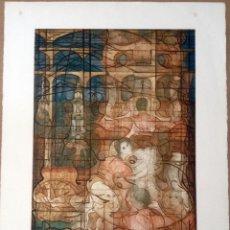 Arte: CARLES MADIROLAS (BARCELONA, 1934 - 2007) LITOGRAFIA 29/60 FIRMADA ELS CASTELLS D'HERCULES 1981. Lote 152341913