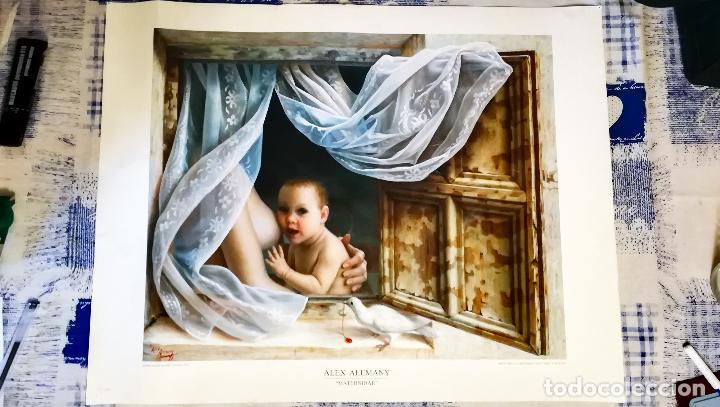 LITOGRAFIA DE - ALEX ALEMANY - MATERNIDAD - AÑO 1991 - EDICION LIMITADA 50-100 DIRMANA POR AUTOR 66X (Arte - Litografías)
