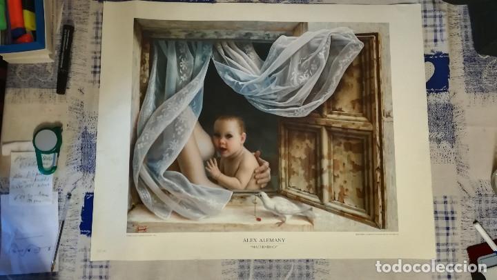Arte: LITOGRAFIA DE - ALEX ALEMANY - MATERNIDAD - AÑO 1991 - EDICION LIMITADA 50-100 DIRMANA POR AUTOR 66X - Foto 4 - 142821518