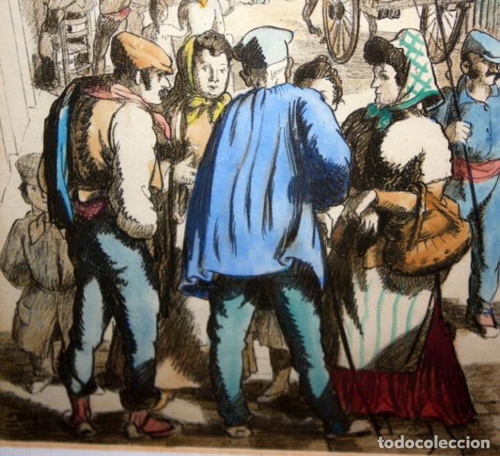 Arte: LOLA ANGLADA SARRIERA (Barcelona, 1893 - Tiana, 1984) LITOGRAFIA ILUMINADA A MANO DEL AÑO 1939 - Foto 6 - 142999762