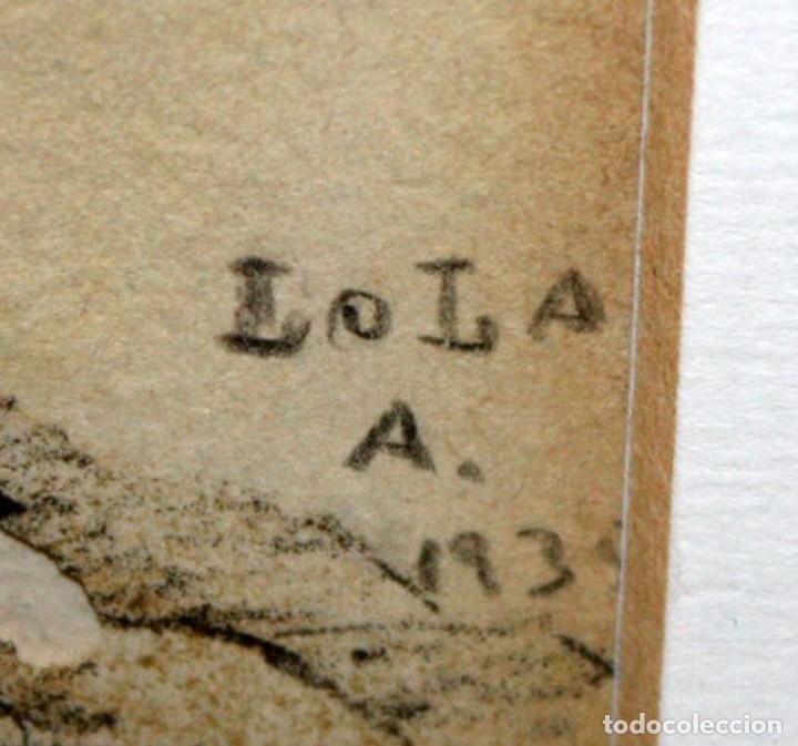 Arte: LOLA ANGLADA SARRIERA (Barcelona, 1893 - Tiana, 1984) LITOGRAFIA ILUMINADA A MANO DEL AÑO 1939 - Foto 8 - 142999762