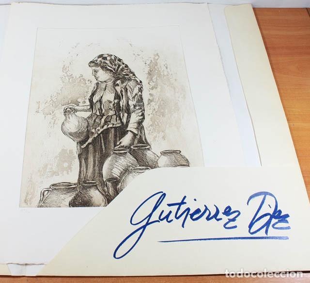 AGUAFUERTE DE CARMEN GUTIERREZ DIEZ NUMERADO (359/400) Y FIRMADO 52 X 40 CM, EDITADO POR SKANDA 1982 (Arte - Litografías)
