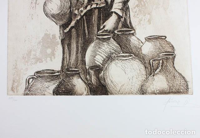 Arte: AGUAFUERTE DE CARMEN GUTIERREZ DIEZ NUMERADO (359/400) Y FIRMADO 52 X 40 CM, EDITADO POR SKANDA 1982 - Foto 5 - 143143802