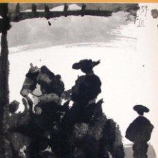 Arte: PABLO PICASSO - TOROS Y TOREROS . LITOGRAFIA OFFSET 1961. Lote 143157770