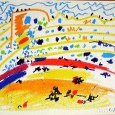 Arte: PABLO PICASSO - TOROS Y TOREROS . LITOGRAFIA OFFSET 1961. Lote 143157794