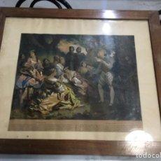 Arte: (M) ITALIA - ANTIGUA LITOGRAFÍA ILUMINADA A MANO S. XIX CON SU MARCO DE ÉPOCA 62X52 CM EL MARCO , L. Lote 143262098