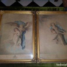 Kunst: PAREJA DE LITOGRAFÍAS. SIGLO XIX . Lote 143412158