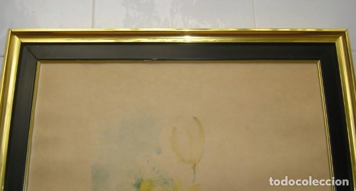 Arte: Marco cuadro con litografia en papel de arroz. - Foto 2 - 143550890