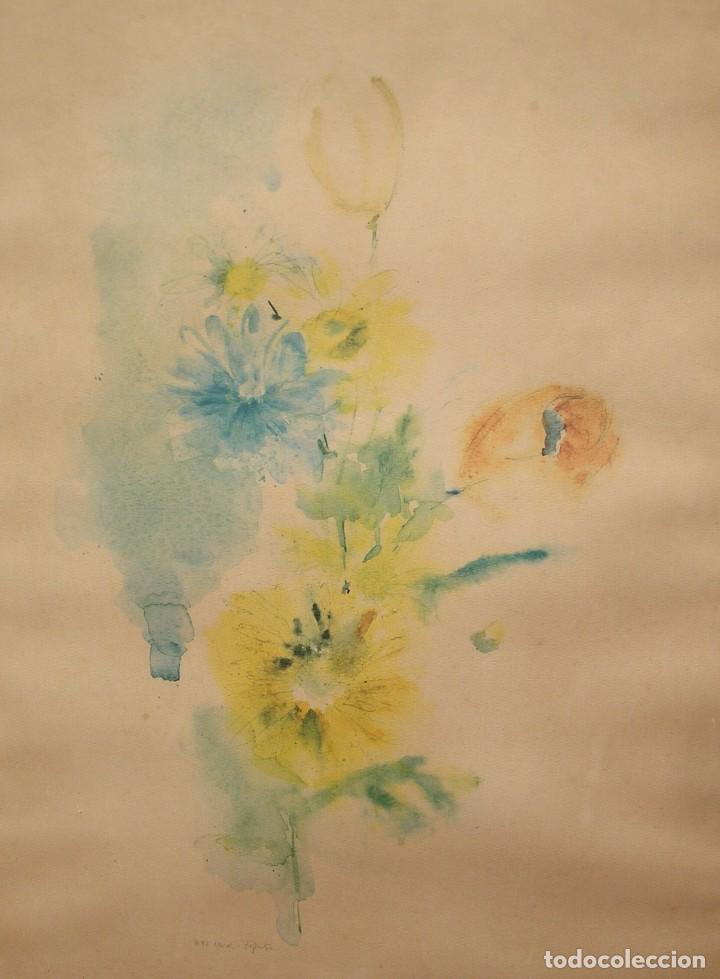 Arte: Marco cuadro con litografia en papel de arroz. - Foto 3 - 143550890