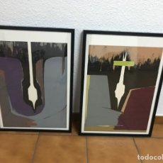 Arte: SALVADOR SORIA | PAREJA DE LITOGRAFÍAS (1985) [SERIE: INTEGRACIÓN DE LO DESTRUIDO]. Lote 143712494