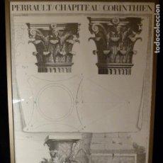 Arte: LITOGRAFIA PERRAULT CHAPITEAU CORINTHIEN. Lote 143961158