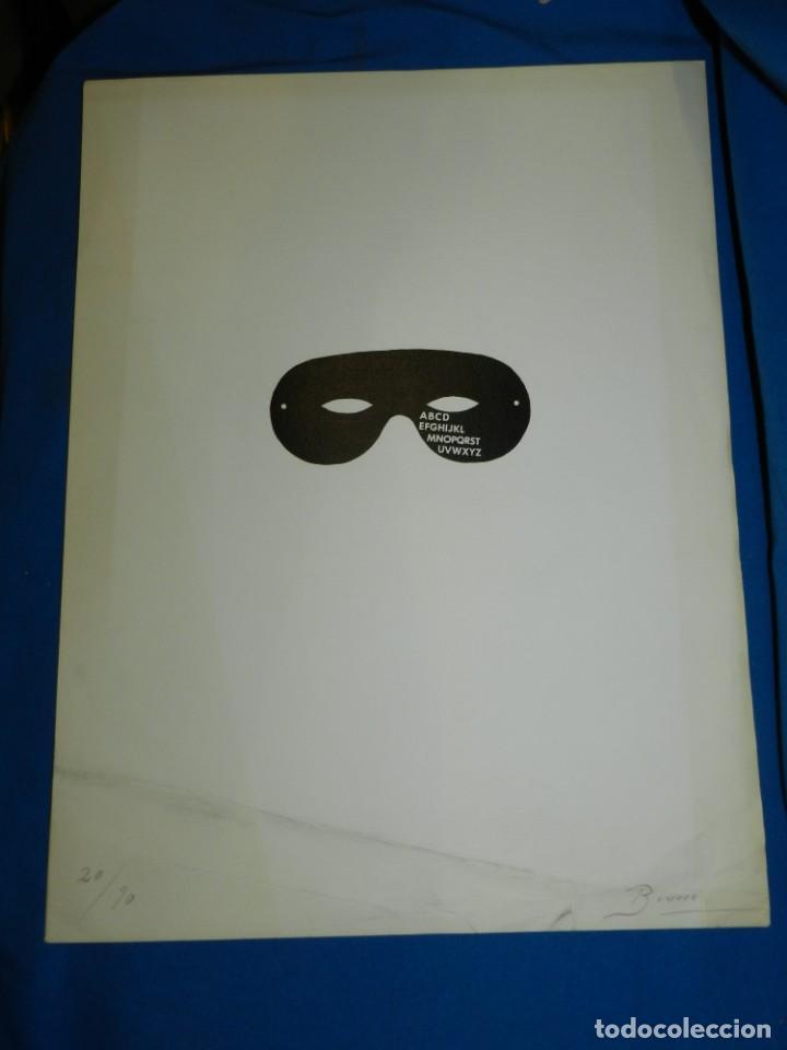 JOAN BROSSA - LITOGRAFIA ORIGINAL DE JOAN BROSSA 20/90 ABCDEFG , 50 X 35 CM, SEÑALES DE USO NORMALES (Arte - Litografías)