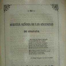 Arte: NUESTRA SEÑORA DE LAS ANGUSTIAS GRANADA AÑO 1864.. Lote 144097070