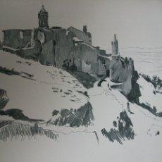 Arte: GERONA TORRE DE LA GIRONELLA LITOGRAFIA 1915 ASPIAZU ILUSTRADOR 24 X 31 CMTS. Lote 147380598